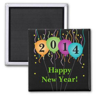 Confeti colorido y Feliz Año Nuevo de los globos Imán Cuadrado