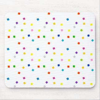 Confeti cuadrado colorido Mousepad Alfombrillas De Raton
