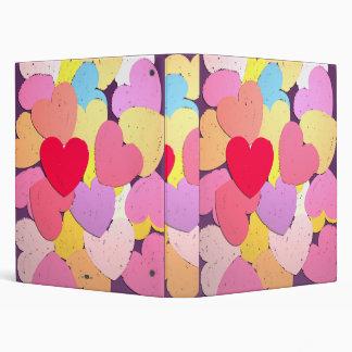 Confeti de corazones. binder