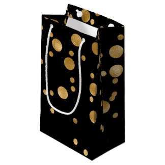 Confeti de la hoja de oro bolsa de regalo pequeña