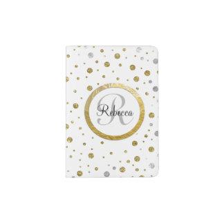 Confeti de la plata de la impresión de la hoja de porta pasaporte