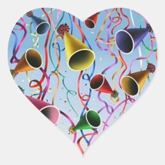 Confeti de las flámulas de los gorras del fiesta pegatinas de corazon