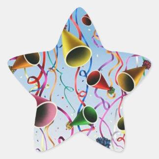 Confeti de las flámulas de los gorras del fiesta colcomanias forma de estrella personalizadas