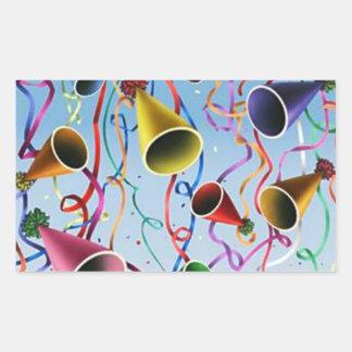 Confeti de las flámulas de los gorras del fiesta rectangular altavoces