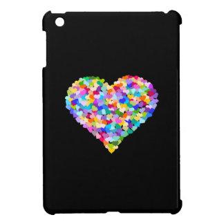 Confeti de los corazones del arco iris iPad mini cárcasa