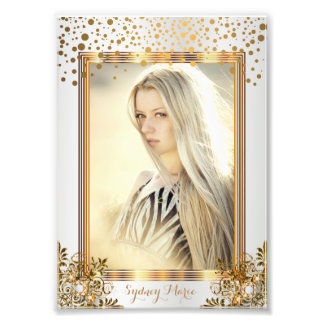 Confeti decorativo del blanco y del oro - cojinete