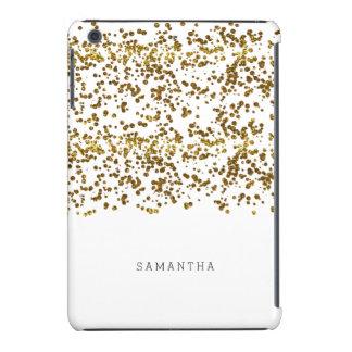 Confeti del brillo de Bling del oro Fundas De iPad Mini Retina
