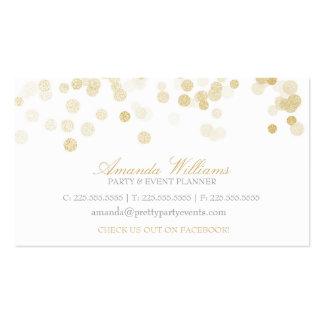 Confeti del brillo del oro tarjeta personal
