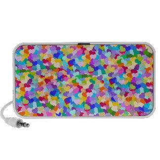 Confeti del corazón del arco iris iPod altavoces
