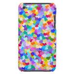 Confeti del corazón del arco iris iPod touch Case-Mate cárcasa