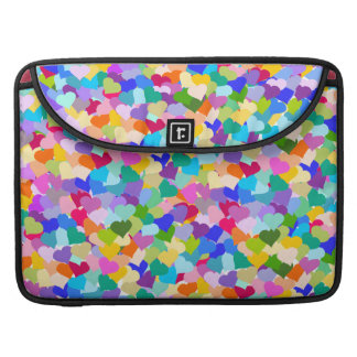 Confeti del corazón del arco iris funda macbook pro