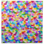 Confeti del corazón del arco iris servilleta de papel