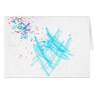 Confeti del cumpleaños (espacio en blanco) tarjeta de felicitación