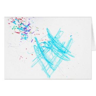 Confeti del cumpleaños (tarjeta de cumpleaños) tarjeta de felicitación