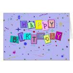 Confeti del feliz cumpleaños felicitación