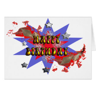 confeti del feliz cumpleaños tarjeta de felicitación
