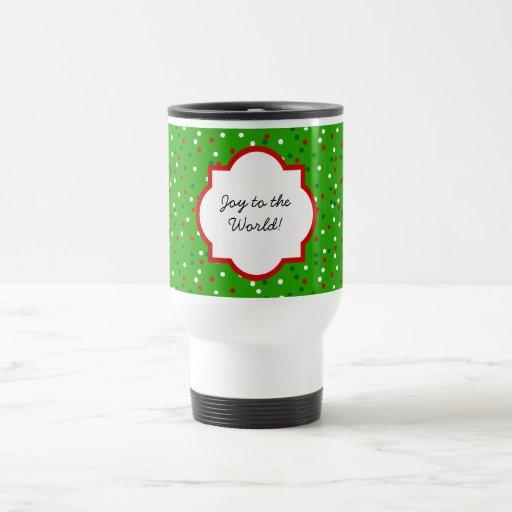 Confeti del navidad • Colores tradicionales del ca Tazas De Café