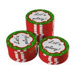Confeti del navidad • Colores tradicionales del Fichas De Póquer