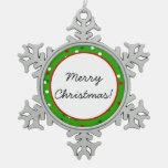 Confeti del navidad • El árbol de navidad asperja Adorno De Peltre En Forma De Copo De Nieve