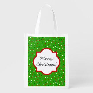 Confeti del navidad • El árbol de navidad asperja Bolsas Para La Compra