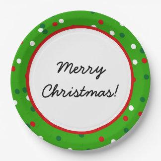 Confeti del navidad • El árbol de navidad asperja Plato De Papel De 9 Pulgadas