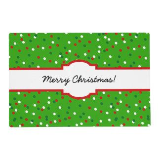 Confeti del navidad • El árbol de navidad asperja Salvamanteles