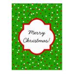 Confeti del navidad • El árbol de navidad asperja Postal
