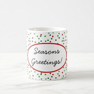 Confeti del navidad • La formación de hielo real Taza De Café