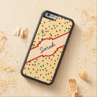 Confeti del navidad • La galleta de azúcar asperja Funda De iPhone 6 Bumper Arce