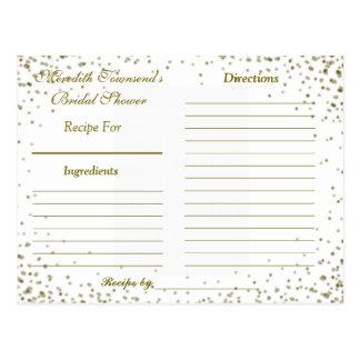 Confeti del oro de la tarjeta el | de la receta tarjeta postal
