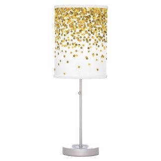 Confeti del oro lámpara de mesa
