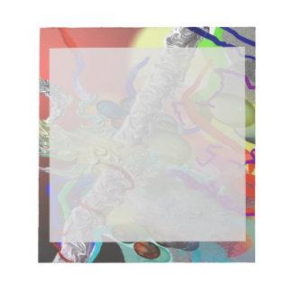 Confeti - diseño abstracto en rojo libreta para notas