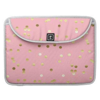 Confeti elegante de la hoja de oro rosa claro fundas macbook pro
