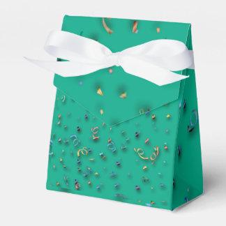 Confeti en 3D en la caja del favor de Partido Cajas Para Regalos