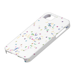 Confeti en el fondo blanco iPhone 5 Case-Mate protector