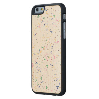 Confeti en espacio en blanco (añada un color de funda de iPhone 6 carved® de arce