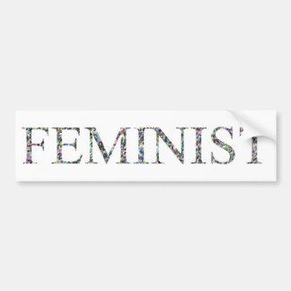 Confeti Feminist.jpg Pegatina Para Auto