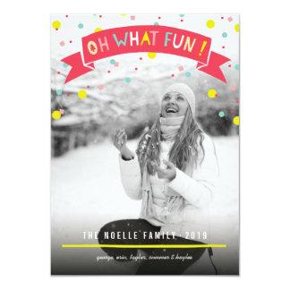 """Confeti lindo oh qué saludos de la foto del día de invitación 4.5"""" x 6.25"""""""