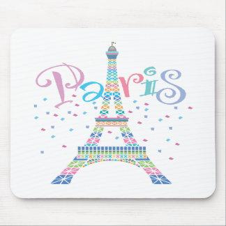 Confeti Mousepad de la torre Eiffel Tapetes De Raton