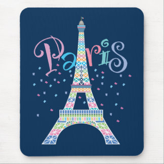 Confeti Mousepad de la torre Eiffel Alfombrilla De Raton