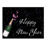 Confeti, postal de la Feliz Año Nuevo de la botell