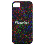 Confeti rojo, azul, y verde iPhone 5 Case-Mate cobertura