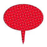 Confeti rojo palillos de tarta