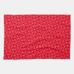 Confeti rojo toalla de cocina