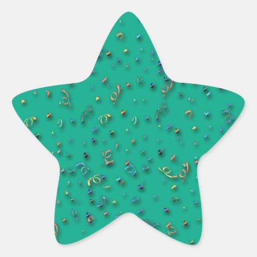 Confeti tridimensional colorido pegatinas forma de estrellaes