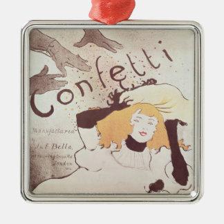 Confetti, 1893 metal ornament