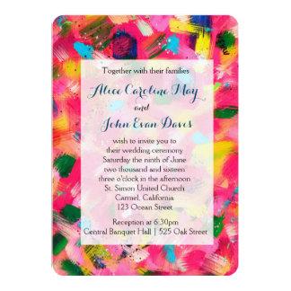 Confetti Abstract Art Wedding Invitation
