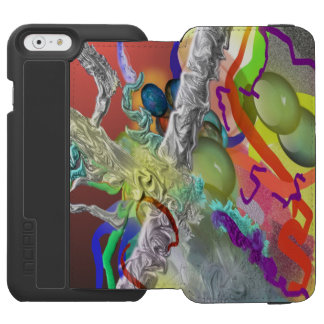 Confetti - Abstract Design in Red iPhone 6/6s Wallet Case