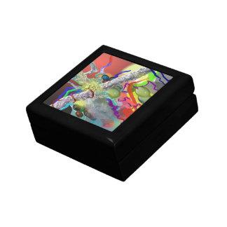 Confetti - Abstract Design in Red Jewelry Box