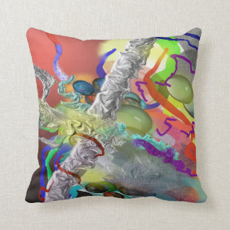 Confetti - Abstract Design in Red Throw Pillow